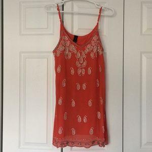 Beaded Orange Raga Dress